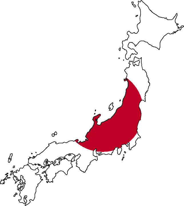 Countries - Japan map red